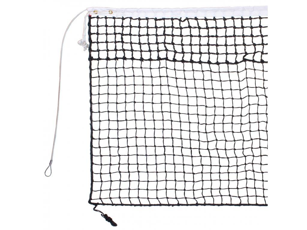 tenisová síť TN 30 D dvojitá, lanko (Barva černá)