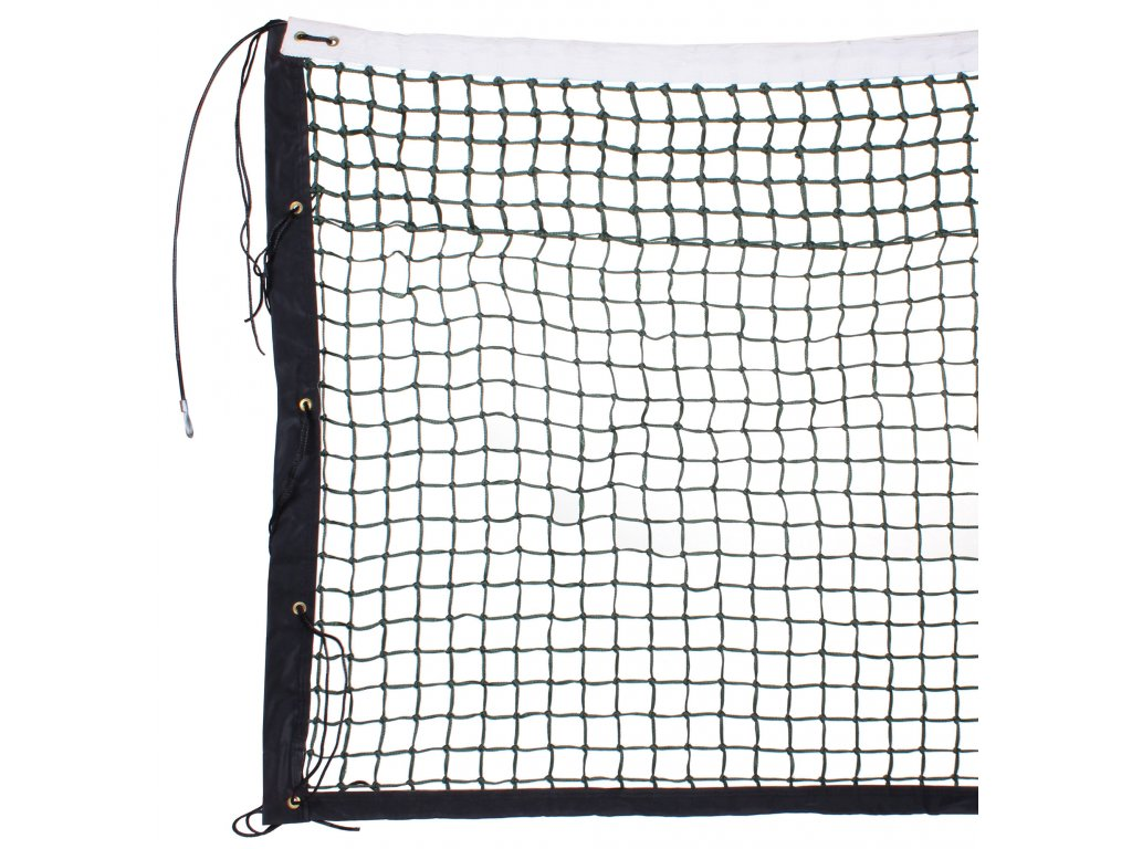 tenisová síť TN 32 D dvojitá, lanko (Barva černá)
