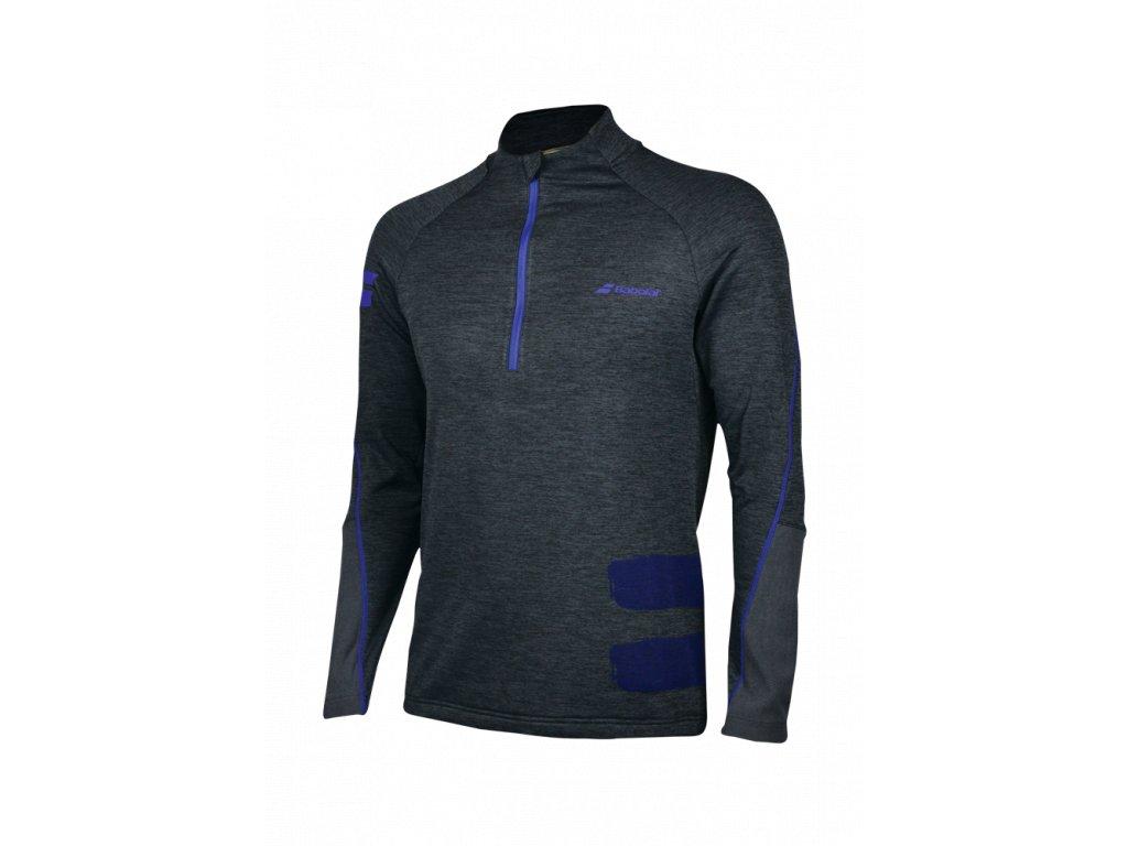 2MS18121 Perf 1 2 Zip Sweatshirt 3001 Rabbit Heather 100Face