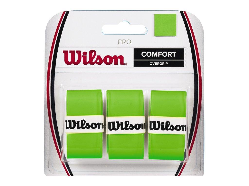 Tenisové omotávky Wilson PRO  COMFORT OVERGRIP 3 ks green