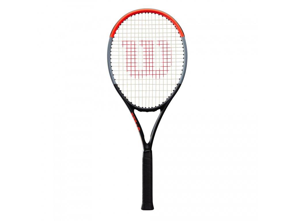 WR005611U 0 Clash 100 White Strings Black Grey Red