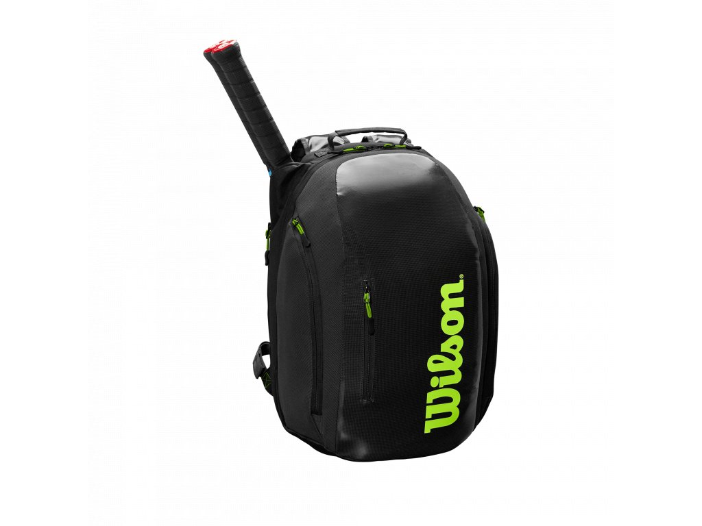 WR8004301001 Super Tour Backpack BKGR Front wRackets
