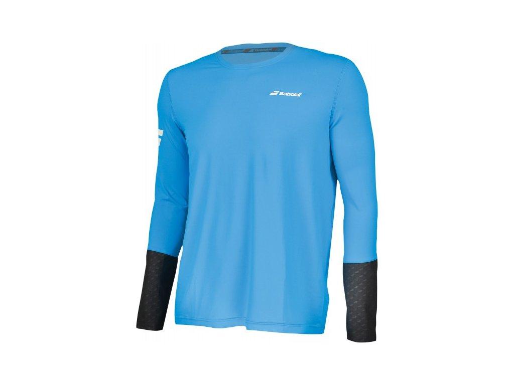 pánské tričko Babolat LS Tee men - diva blue/grey