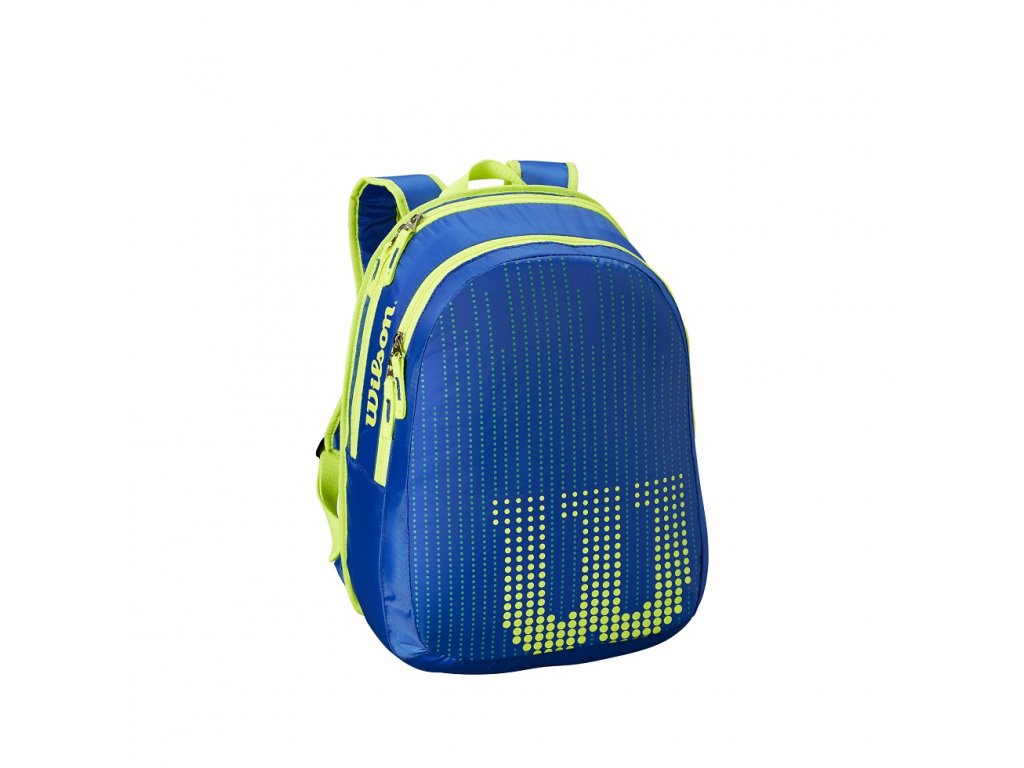 WRZ642995 Youth Backpack Neptune Blue Solar Lime Front