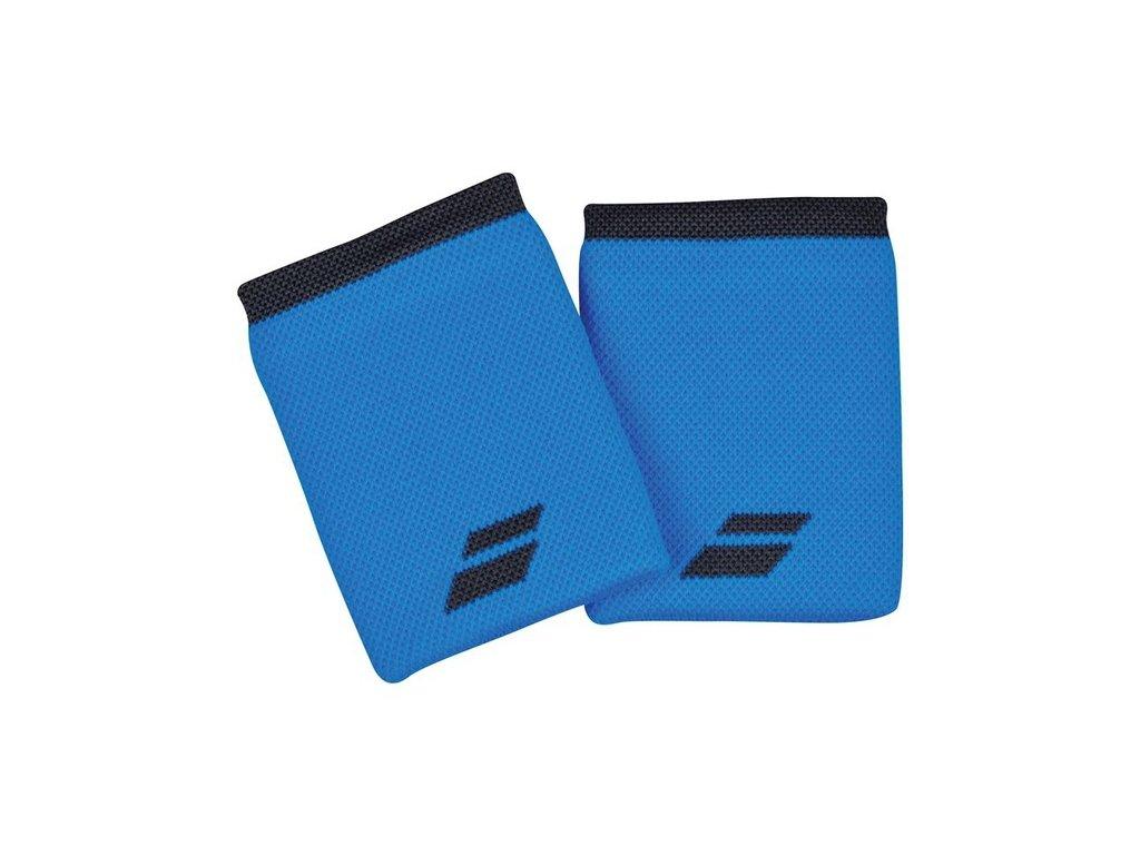 Tenisová potítka Babolat Logo Jumbo Wristband - modré/černé