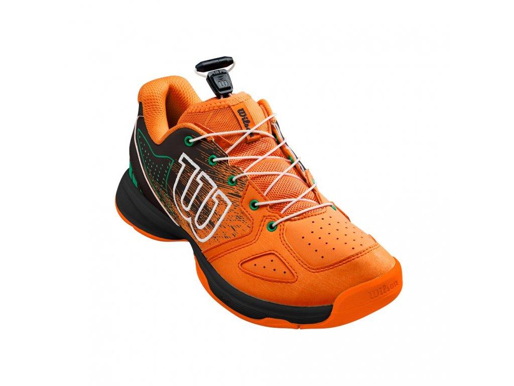 Tenisová Obuv Wilson Kaos Junior QL Orange/Black/Amazon