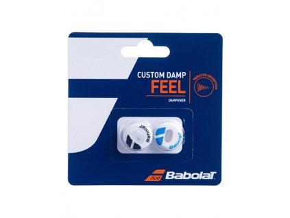 babolat custom damp X2 white blue