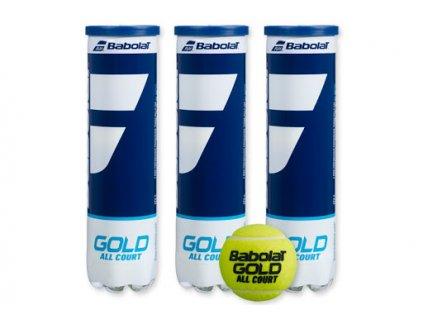 Tenisové míče Babolat Gold 72 ks - karton (125 Kč plechovka)