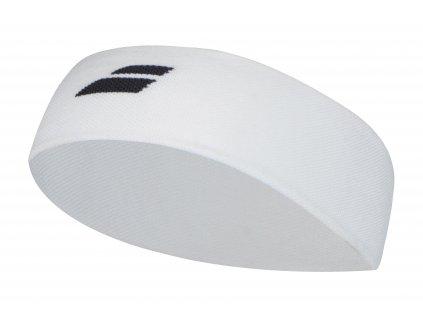 babolat logo headband white