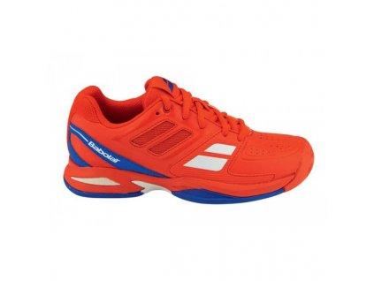 Tenisová obuv Babolat  Propulse Team junior - red (Velikost Junior UK 5  EU 38)