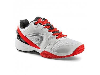 Tenisová obuv Head Nitro Junior White/Red (Velikost Junior UK 4,5 EU 37)