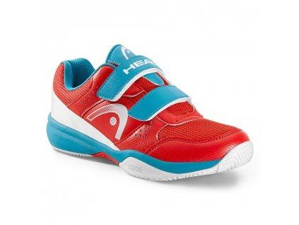 Tenisová obuv Head Nitro Velcro Kids Red/malibu blue (Velikost Junior UK 13  EU 31)