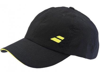288961 ksiltovka babolat basic logo cap black yellow 56337m