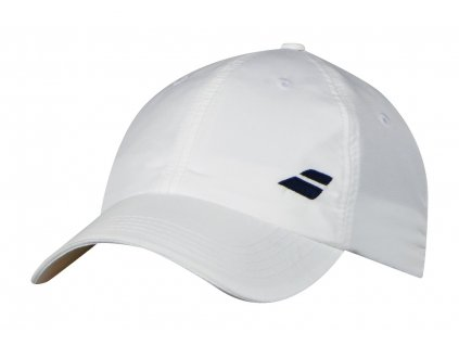 Babolat Basic logo cap junior - bílá černé logo - kšiltovka