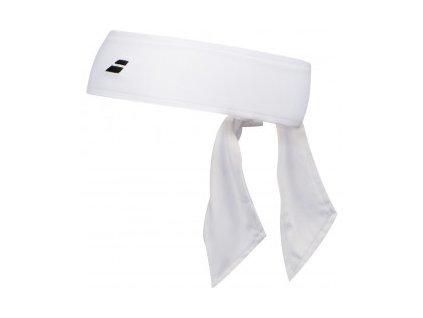 babolat tie headband white