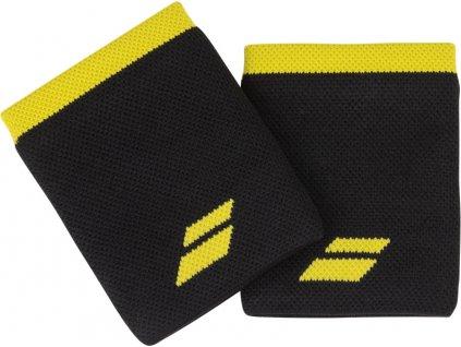 potitka babolat logo jumbo wristband cerna zluta