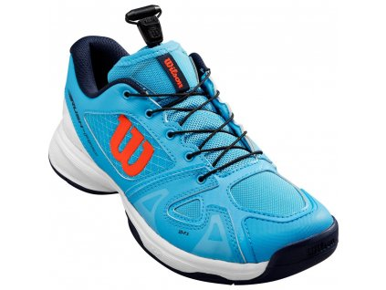46761562210B Wilson Rush Pro Jr QL Tennisschuh Kinder blau