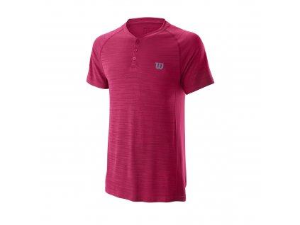 Pánské tričko Wilson M Competition Seamless Henley Granita
