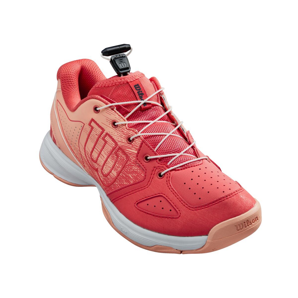 Dětská tenisová obuv Wilson Kaos Junior QL Cayenne/PAPAY/India Velikost: UK 2.5
