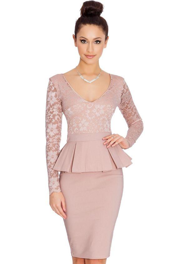 dámske šaty,damske saty, koktejlové šaty, koktejlove saty, peplum šaty, elegantné šaty
