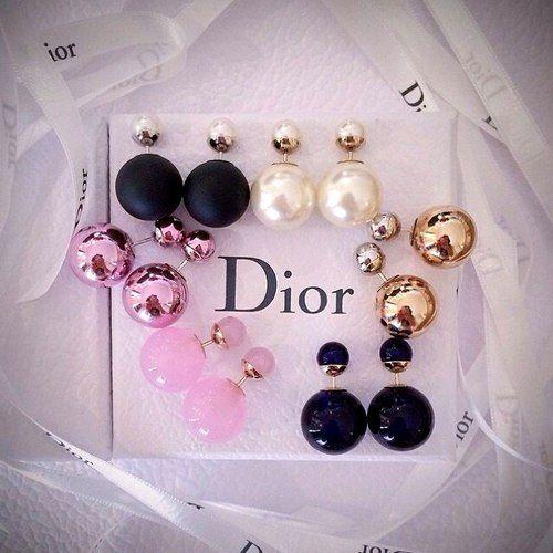 náušnice dior, nausnice dior, obojstranné náušnice, perlove nausnice, perlové náušnice,