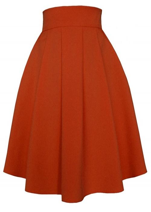 sukňa, sukna, spolocenske sukne, midi sukna, midi sukne, ackova sukna, áčková sukňa, damske sukne,skladana sukna, oranžová sukňa