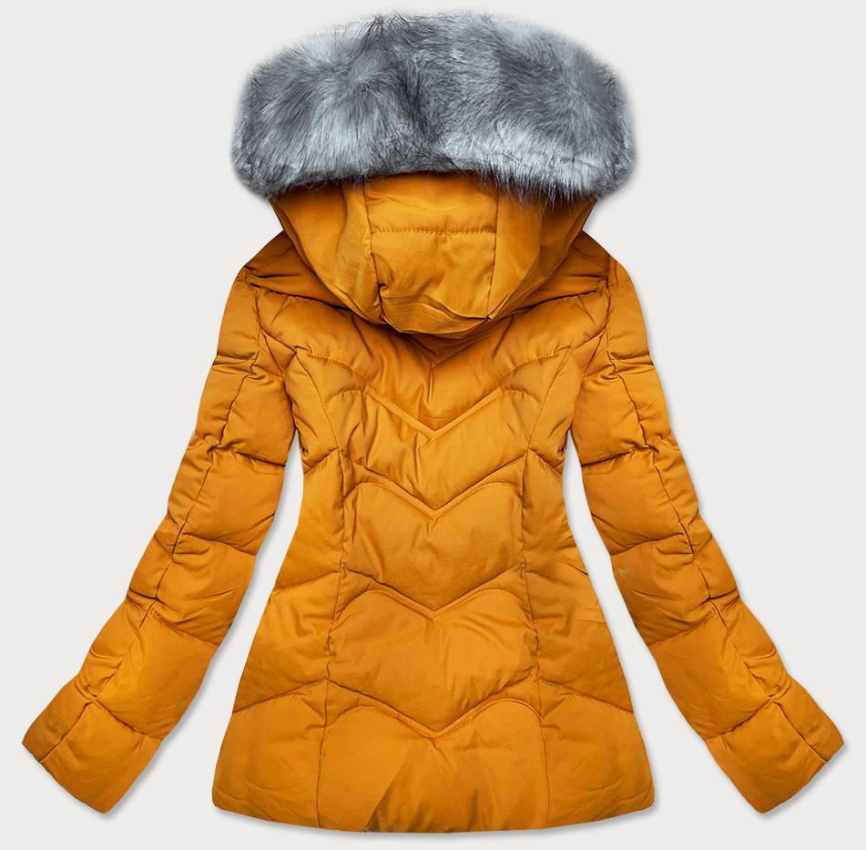 damska-zimna-bunda-s-kapucnou-ztla,damska-bunda-na-zimu-zlta