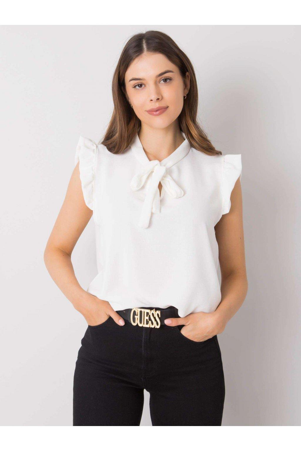 pol pl Biala bluzka z wiazaniem Imelda 364610 1