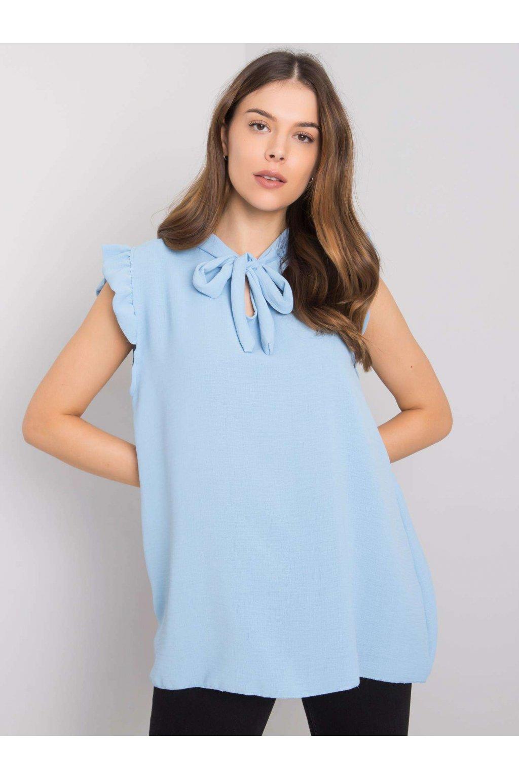 pol pl Niebieska bluzka z wiazaniem Imelda 364608 1
