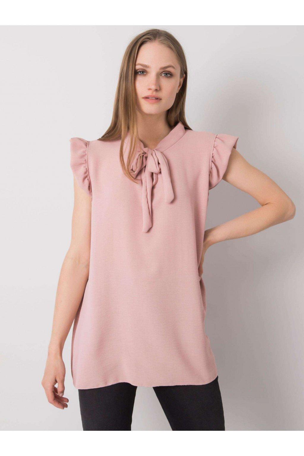 pol pl Brudnorozowa bluzka z wiazaniem Imelda 364609 2