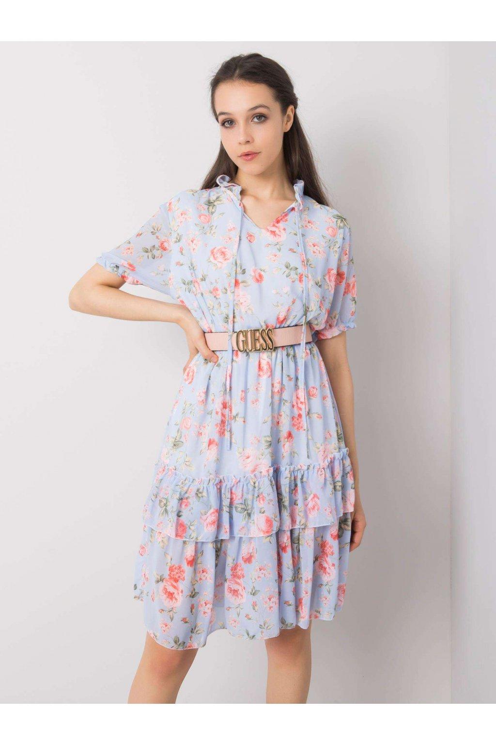 pol pl Niebieska sukienka w kwiaty Mckenna 364507 1