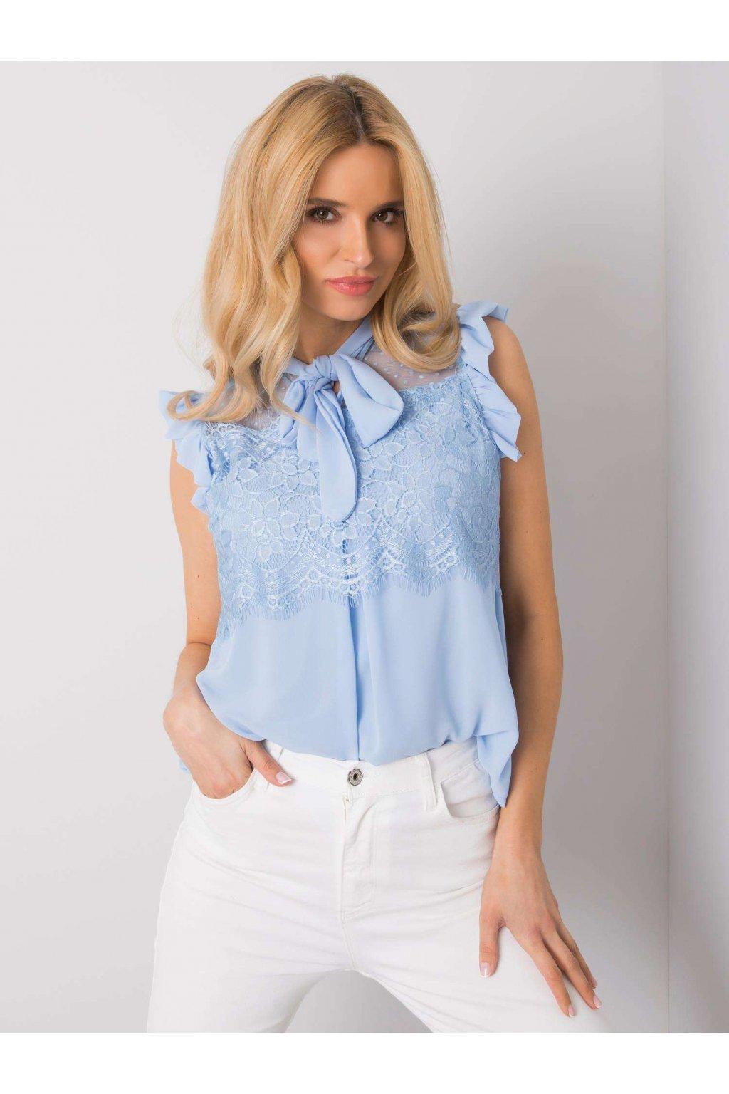 pol pl Niebieska bluzka z koronka Lanelle 365012 1