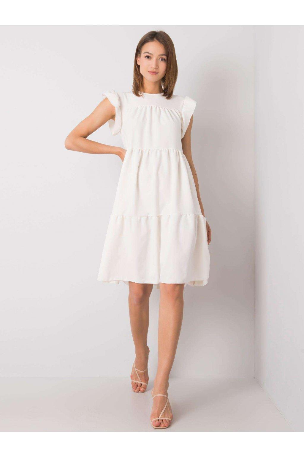 pol pl Ecru sukienka z falbana Jaylin RUE PARIS 366598 2