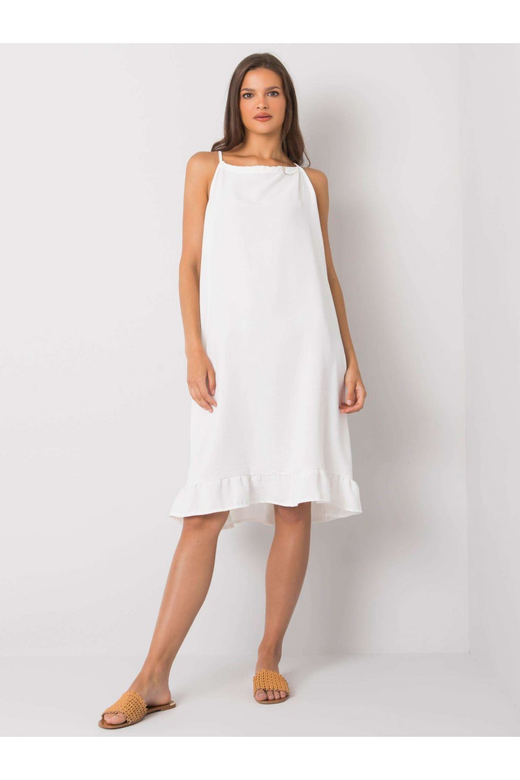 pol pl Ecru sukienka na ramiaczkach Simone 367545 1