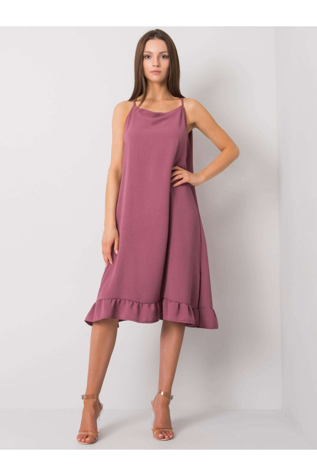 pol pl Brudnorozowa sukienka na ramiaczkach Simone 367543 1