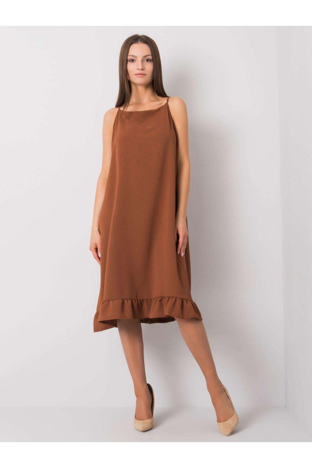 pol pl Brazowa sukienka na ramiaczkach Simone 367542 1