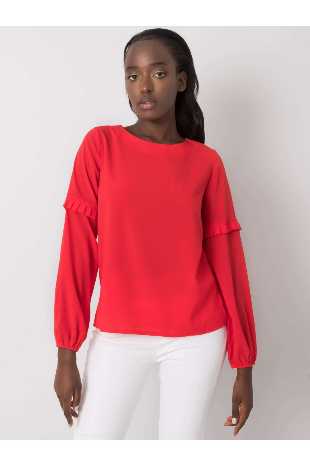 pol pl Czerwona bluzka z okraglym dekoltem Makenna 368461 1