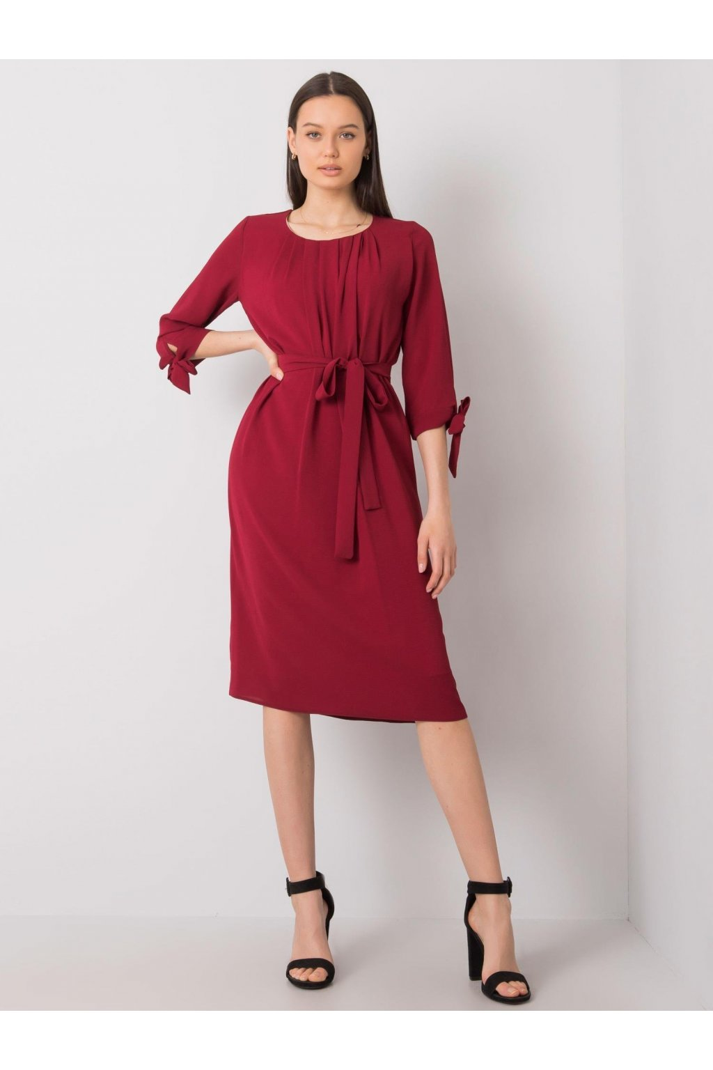 pol pl Bordowa sukienka koktajlowa Alethea 366807 2