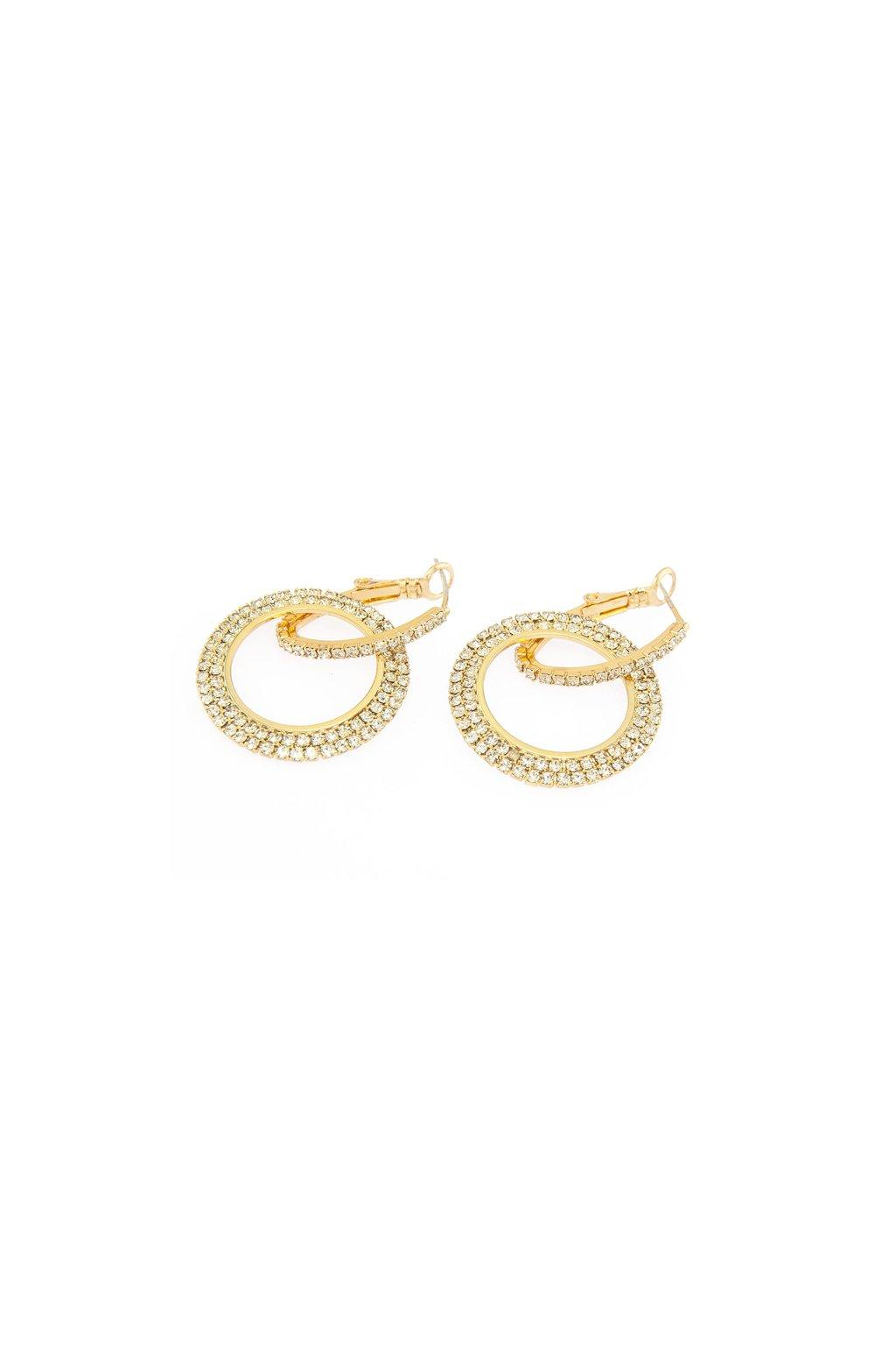 Dámske zlaté náušnice kruh 33971