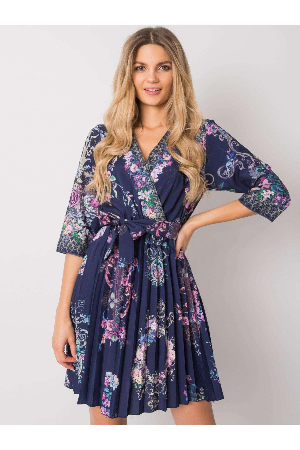 pol pl Granatowa sukienka plisowana Xana 374889 1
