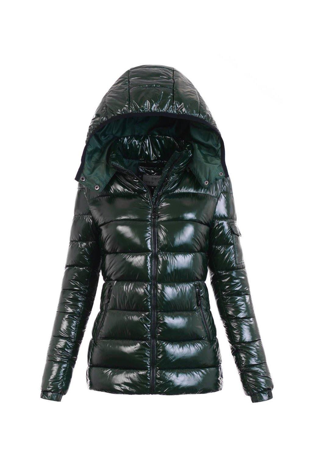 Dámska zimná bunda s kapucňou 5999 zelená