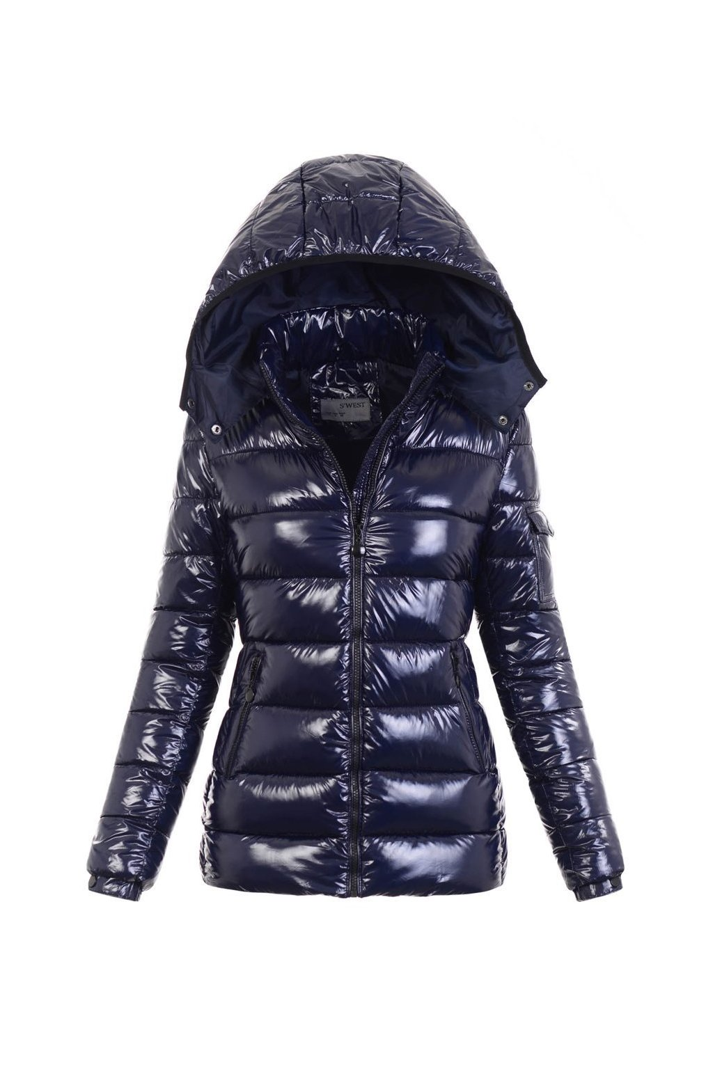 Dámska zimná bunda s kapucňou 5998 modrá