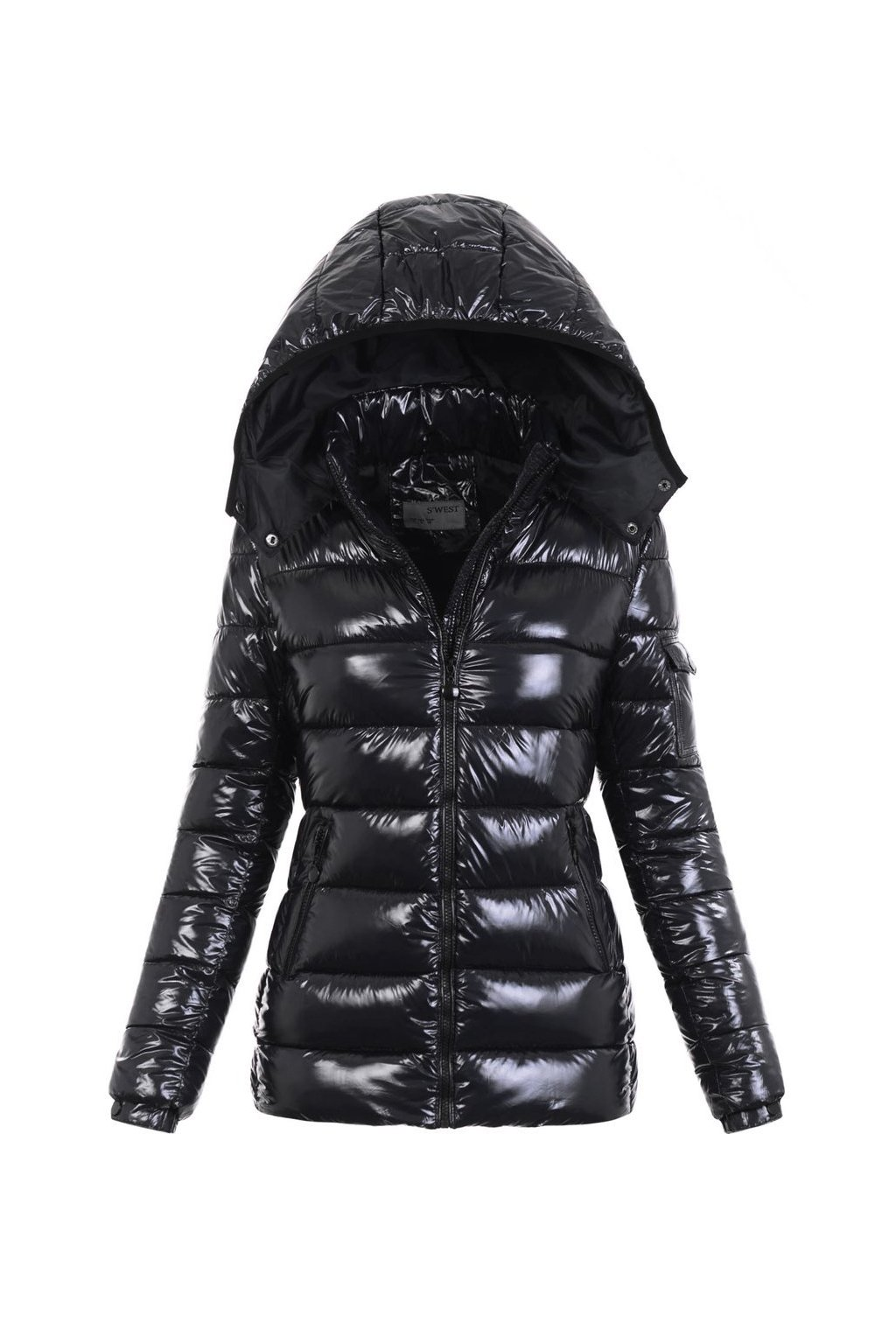 Dámska zimná bunda s kapucňou 5997 čierna