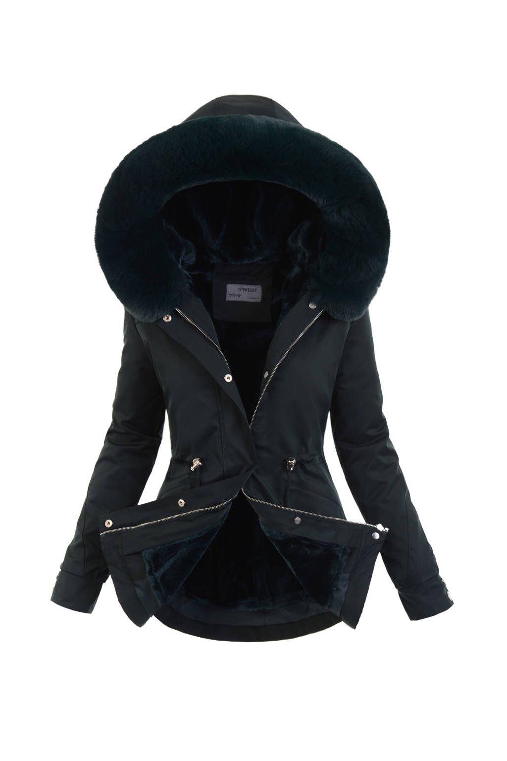 Dámska zimná bunda parka 2v1 6101 zelená
