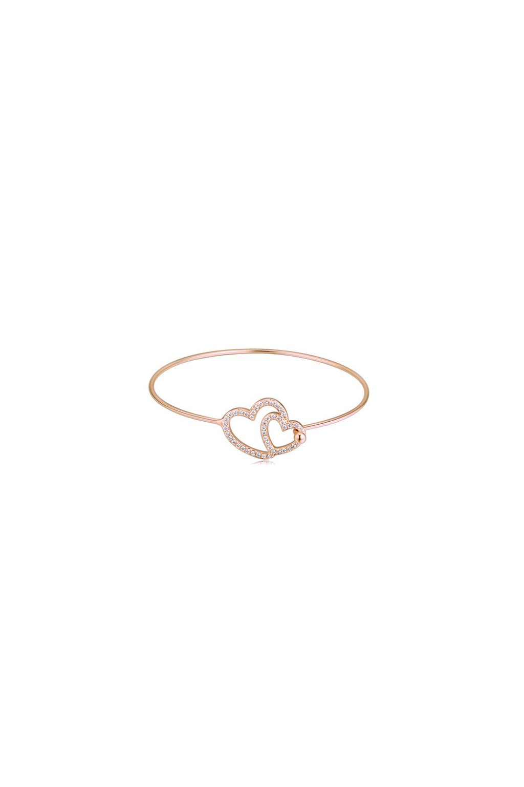 f7a355f62 Náramok srdcia 27012 ružové zlato