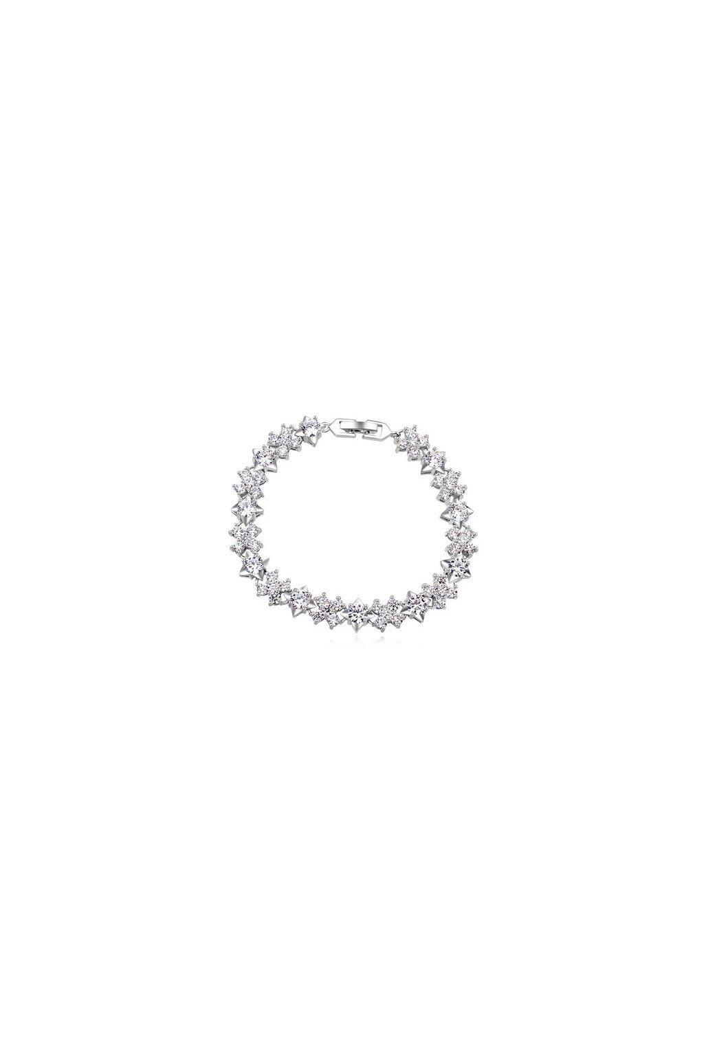Strieborný náramok diamond luxury 16889