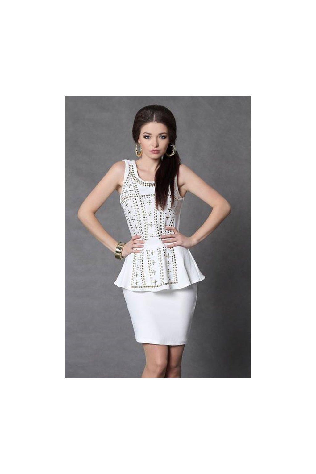 Elegantné peplum šaty s vybíjaním-Tentation.sk 30ebc0395c
