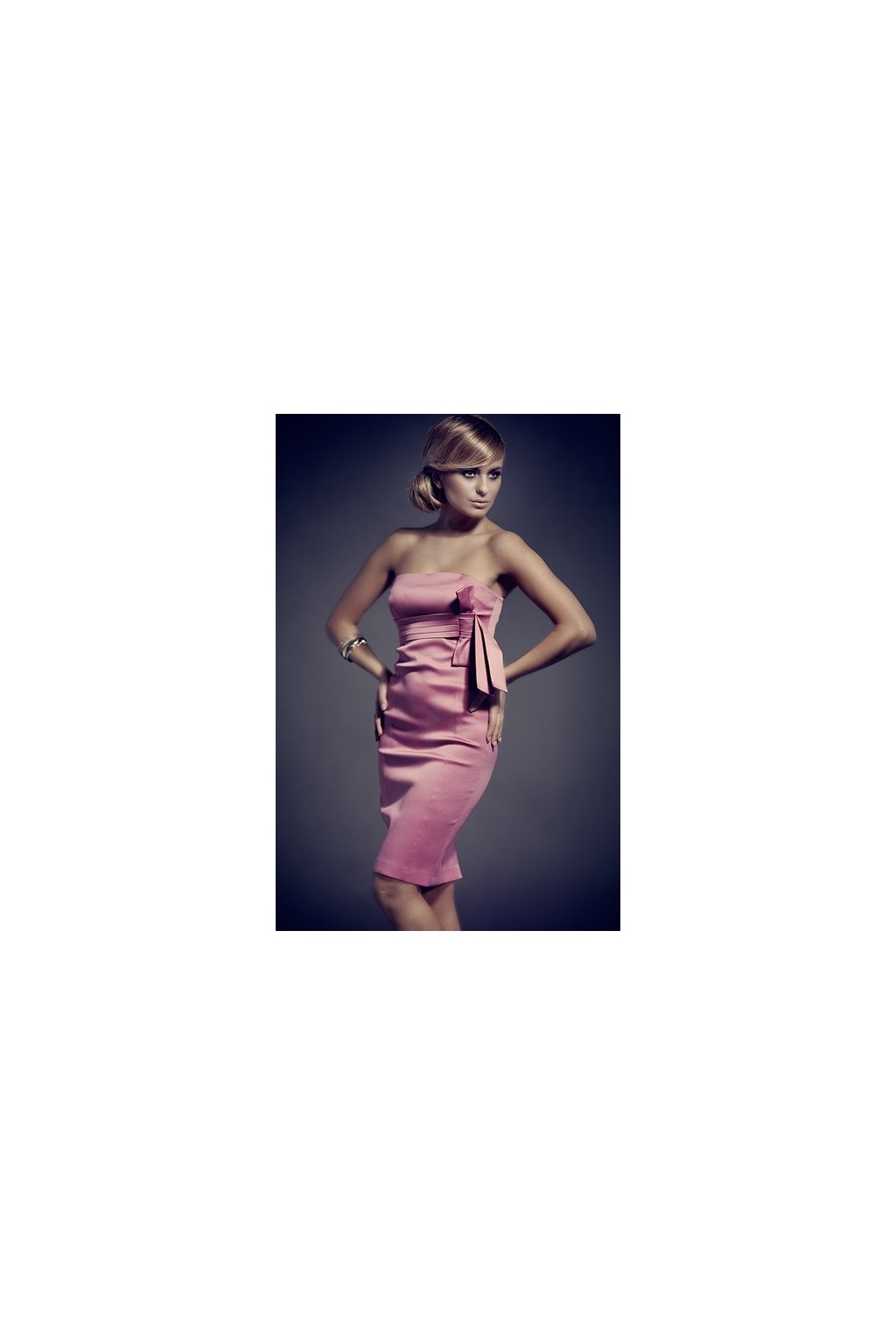 Koktejlové šaty s mašľou ružové-Tentation.sk 230e62e9e0