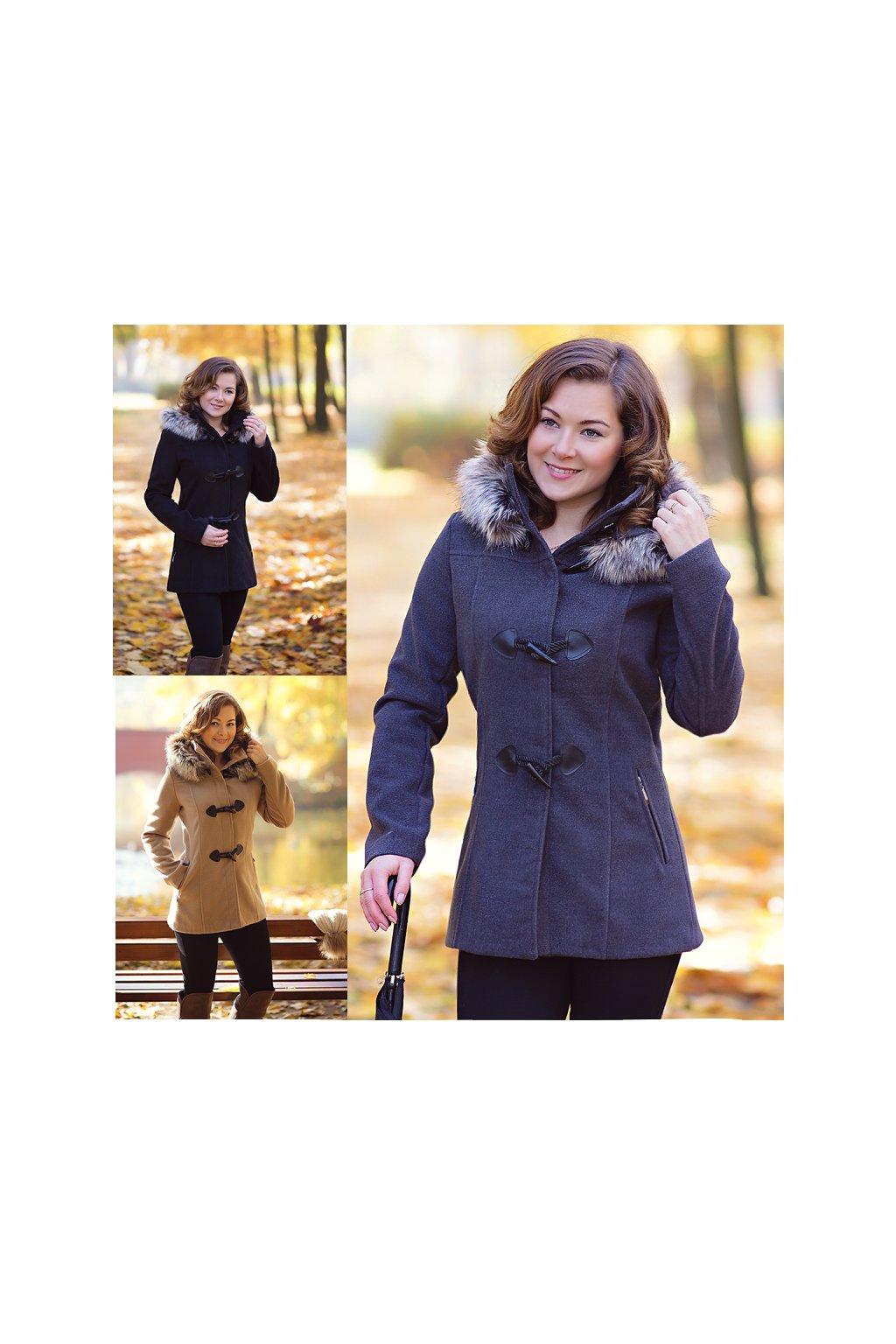 Dámsky zimný kabát elegance