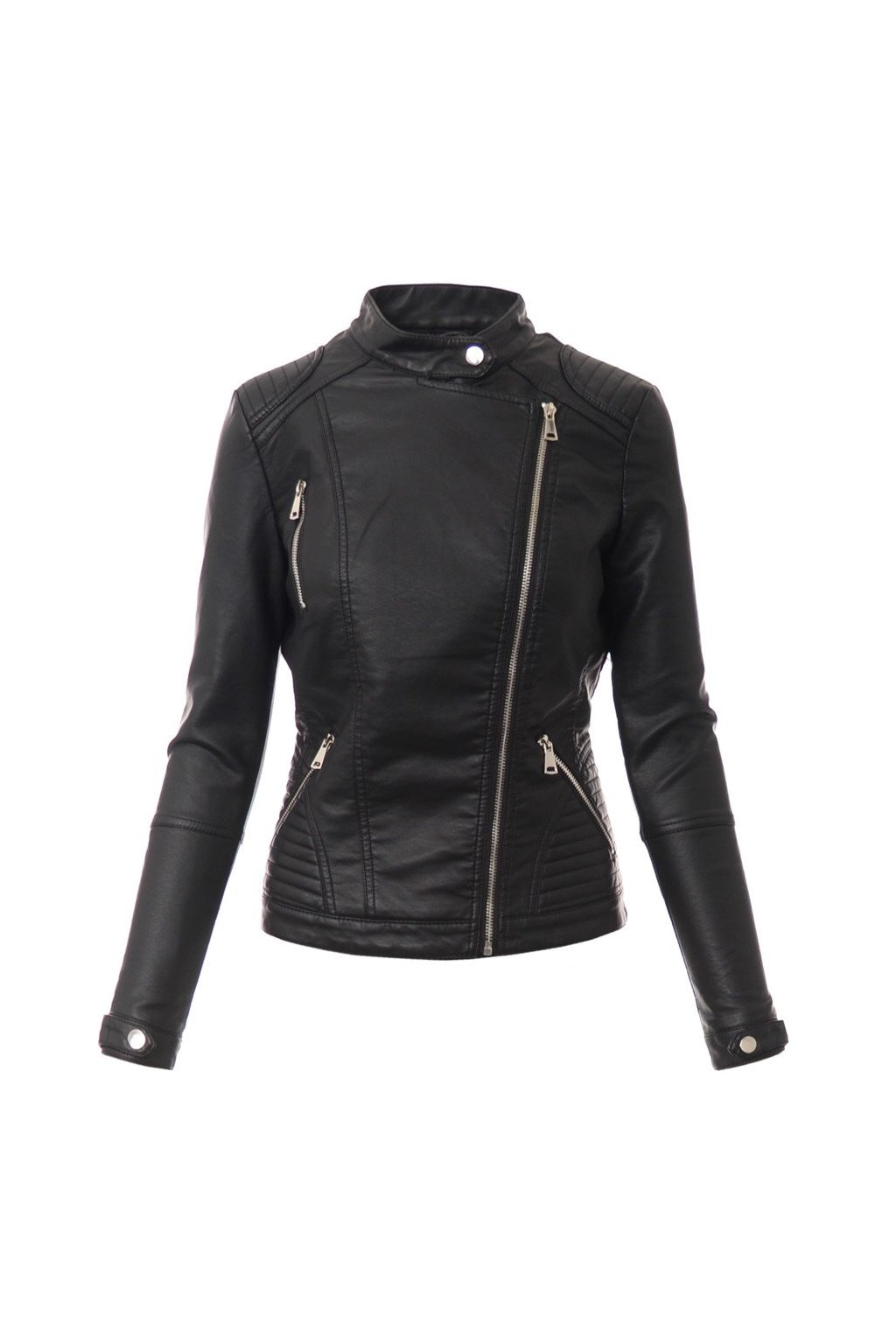Dámska kožená bunda 4090 čierna